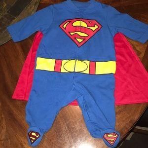 Superman Onesie with Cape 0-3 Months